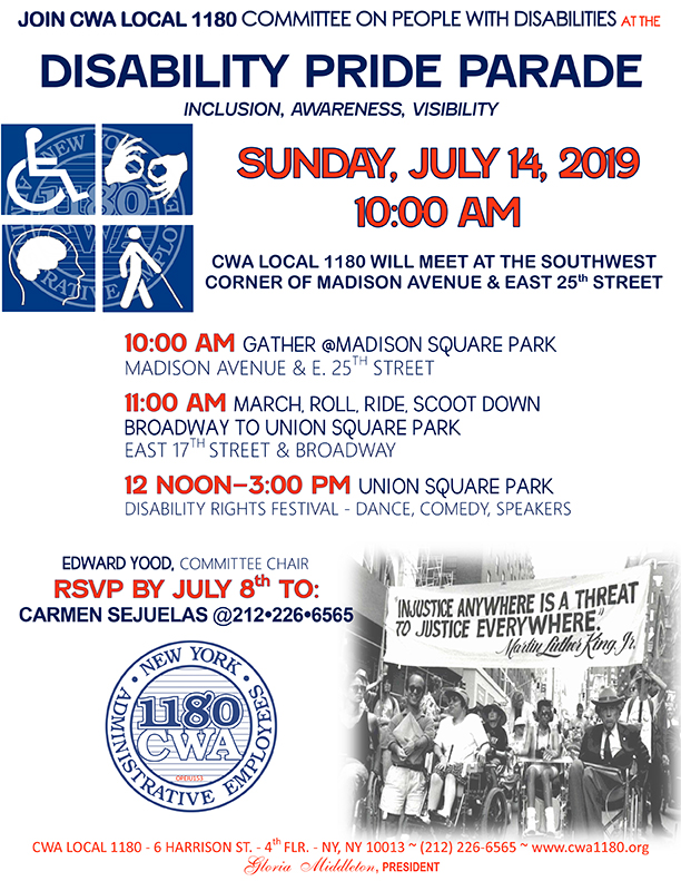 DISABILITY PRIDE PARADE 2019