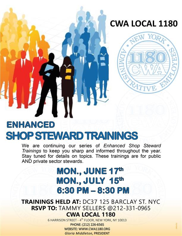 SHOP STEWARD TRAININGS 2